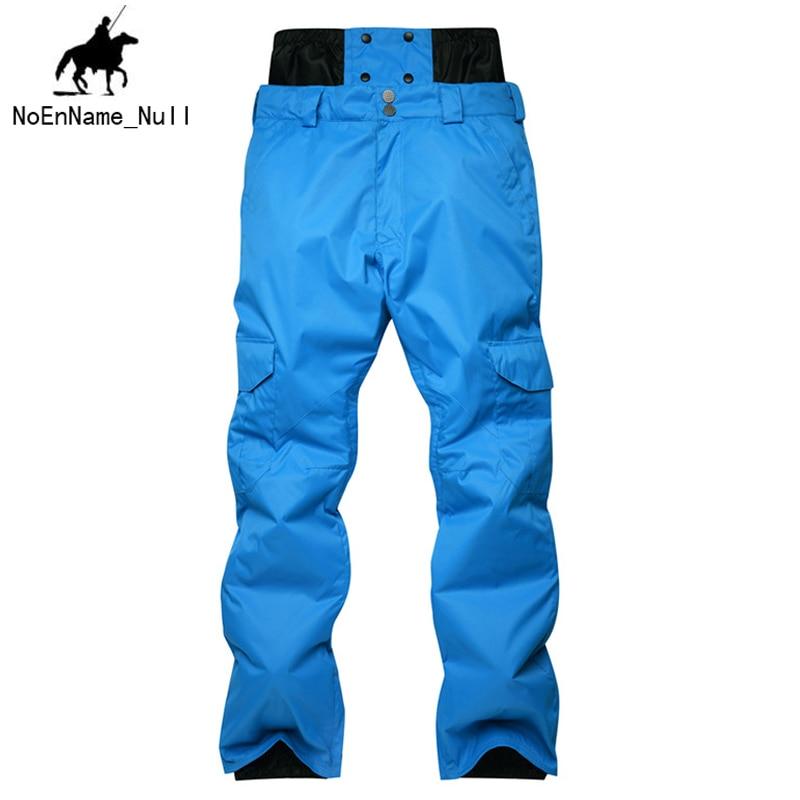New Listing Men Veneer Ski Pants Winter Multi-pocket Thicken Warm Windproof Waterproof Breathable Men 218