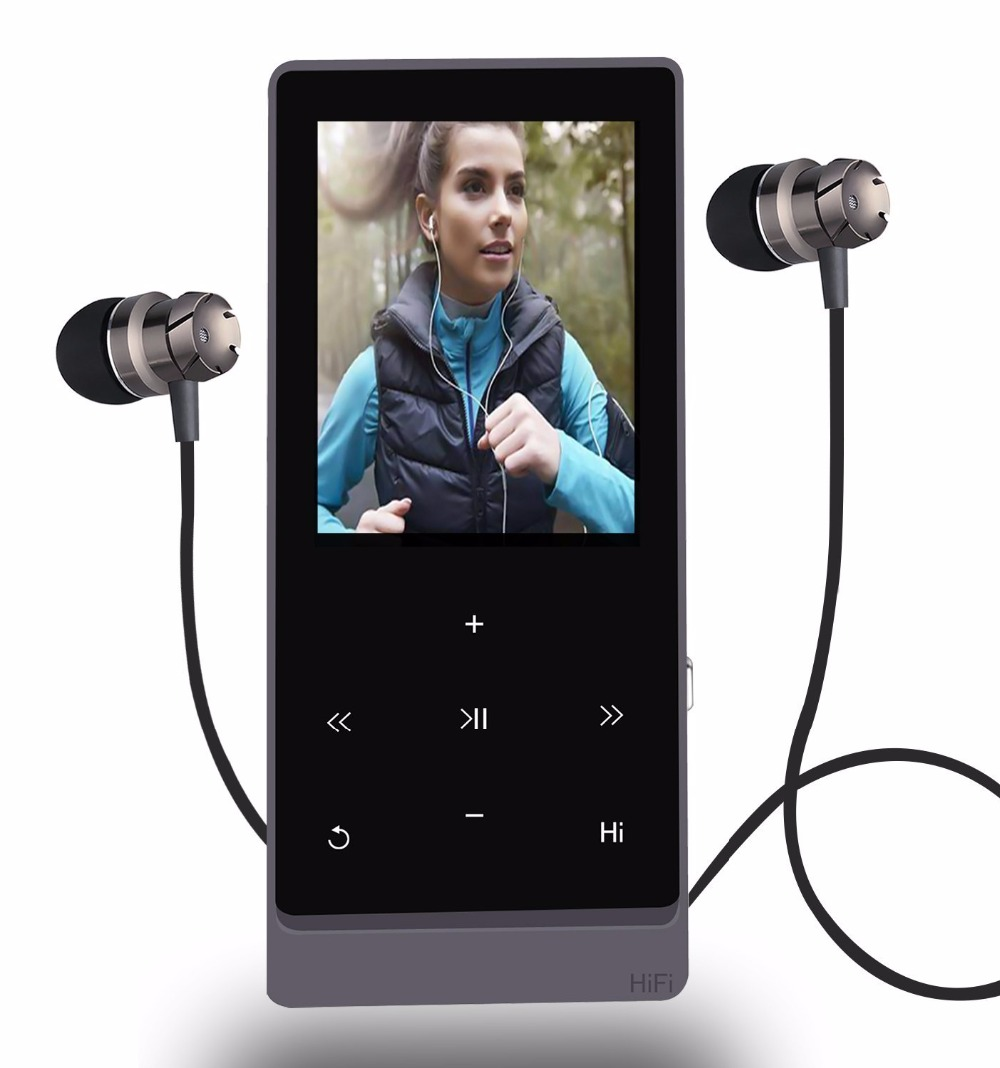 Sago A7 Plus Bluetooth 4.0 Music Player Hi-Fi Touch Button Dual Audio Port FM Radio Voice Recorder Function Support up to 32GB