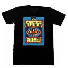 Led Zepplin-Vintage concierto cartel camisa M20 camiseta Robert plant Jimi página impresa camiseta 2018 marca de moda Top Tee