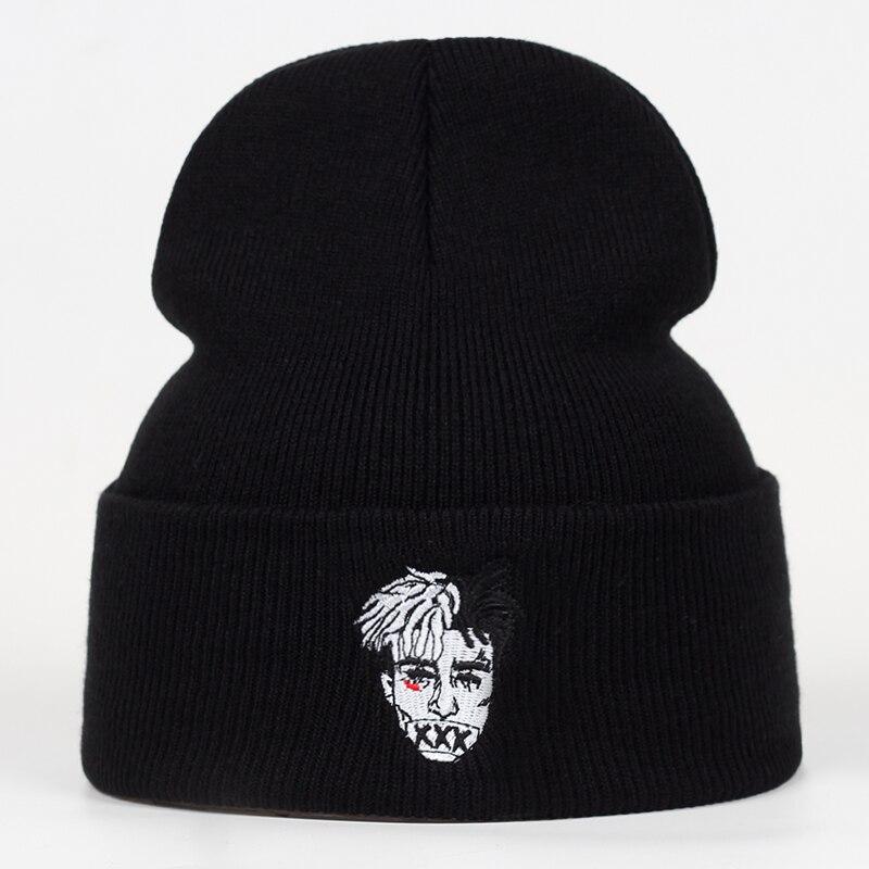 High Quality Xxxtentacion Dreadlocks Casual Beanies For Men Women Fashion Knitted Winter Hat Hip Hop Skullies Cap Hats Gorron