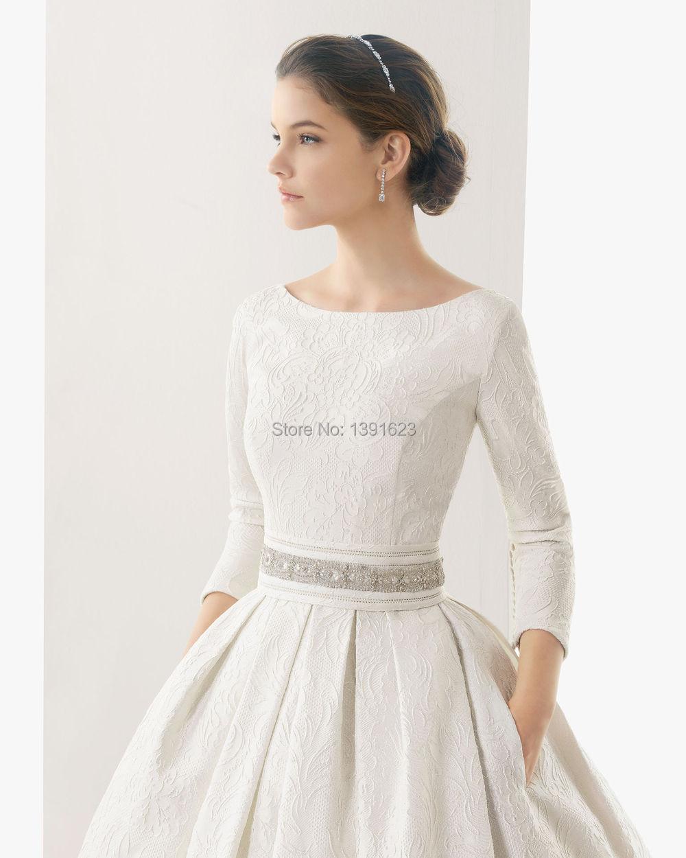 Quarter Sleeve Wedding Dresses