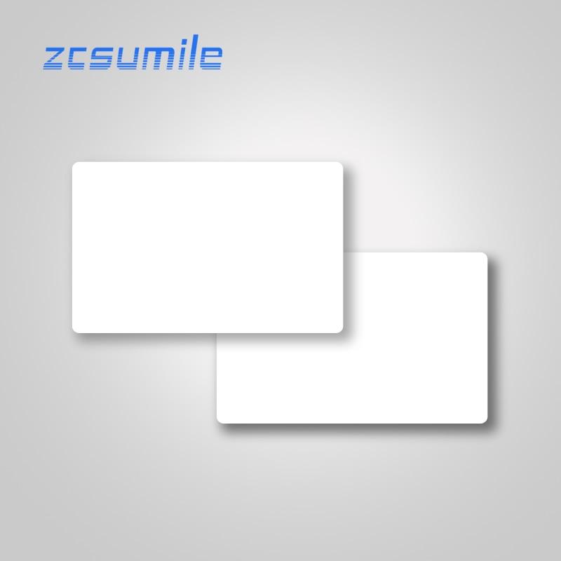 13.56 MHz Hotel Door Access Control Card CR80 Blank PVC IC Card 14443A