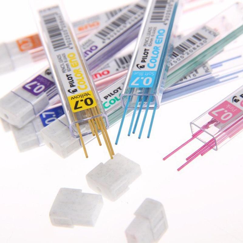 Pilot Color Eno Mechanical Pencil Lead - 0.7 mm 8 tubes/lot Red/Violet/Blue/Light Blue/Green School & Office Supplies