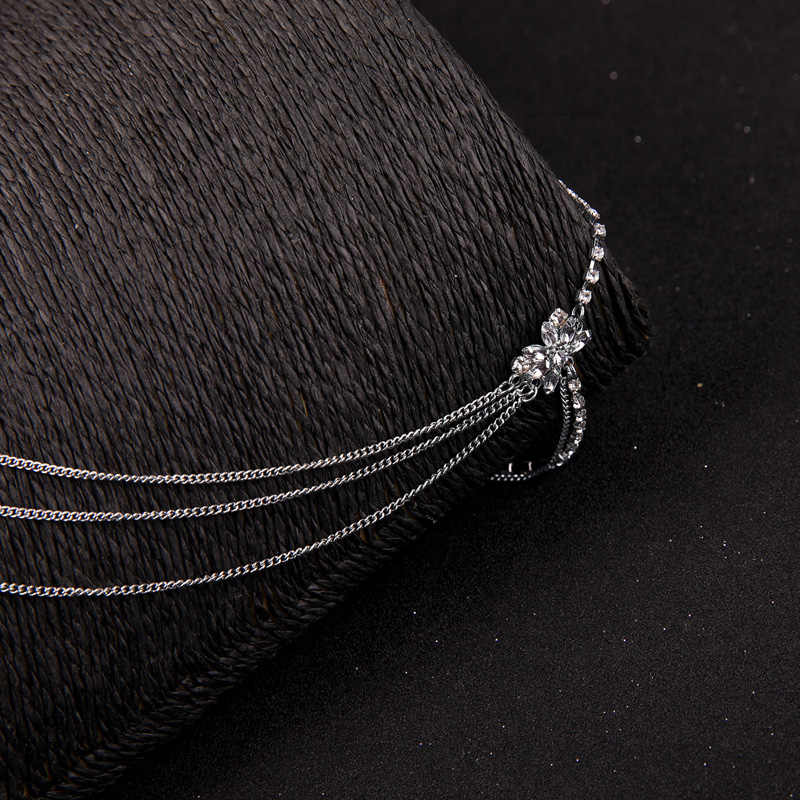2019 Newest Vintage Silver Color Exquisite Crystal Shoulder Necklace For Women Gifts Brides Sexy Body Fashion Jewelry In Box