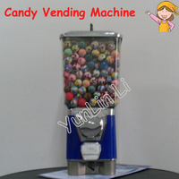 Candy Vending Machine Toy Capsule/ Bouncing Ball Vending Machine Gumball Machine Candy Dispenser with Coin Box GV18F
