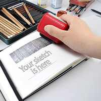 Rouleau auto-encreur Stock timbre sceau Protection contre le vol Code garde votre ID confidentialité sceau confidentiel bureau fichier timbre outil