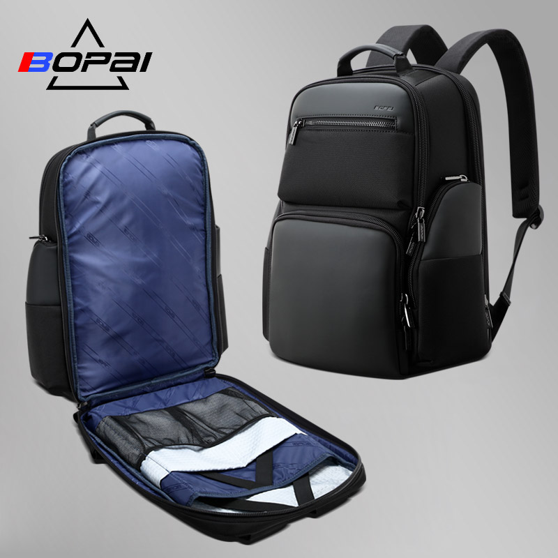 Bopai Anti-Theft Business Backpack 15.6 Inch Laptop Bagpack Water-Resistant With USB Port Charging Travel Backpack Black Plecak