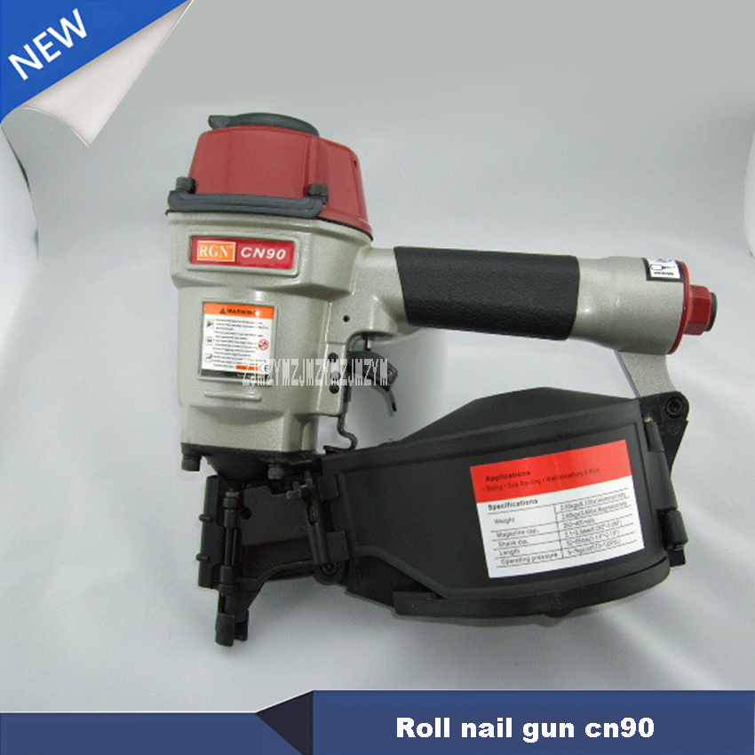 New Arrival High Quality Roll Nail Gun CN90 Coil Nail Guns Air Gun Industrial Pallet Air Nailer kg/cm2 225-275 Nail Hot Selling high quality cn55 industrial pneumatic coil nailer roofing air nail gun tool