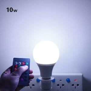 Image 5 - Bombilla de foco Led RGB de 5W, 7W, 10W, lámpara de bola con burbujas, E27, E14, GU10, AC85 265V, iluminación RGB mágica de vacaciones regulable + Control remoto