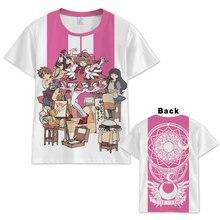 Аниме Cardcaptor Sakura футболка для мужчин и женщин с коротким рукавом летнее платье мультфильм cardcaptor Sakura футболка