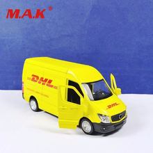 цена на 1/36 scale diecast car van model toys commerical vehicle yellow model for Express DHL car model collection gifts collections