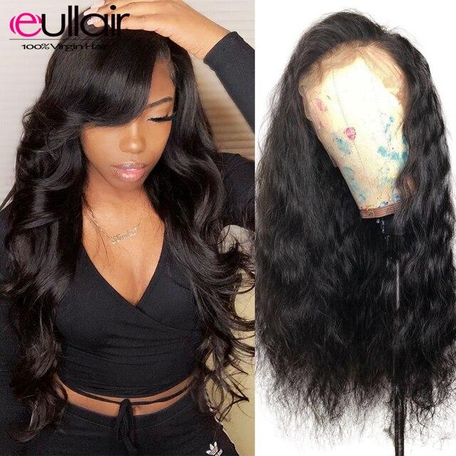Pelucas brasileñas del pelo humano del frente del cordón 150% de la onda del cuerpo Pre-desplumado pelucas delanteras del cordón del pelo Natural con el pelo del bebé para las mujeres negras