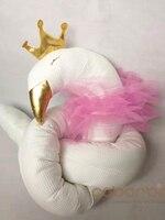 190 см хлопковые детские бортики для кроватки Золотая Корона Лебедь и Серебряная корона elepant кукла подушка, детские подушки, детская кроватка...