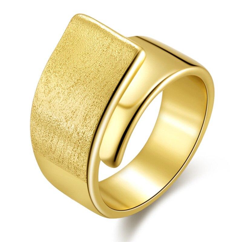 BOAKO anillos para mujer de oro amarillo de 18 K, anillos de boda rectangulares grandes geométricos y anchos, regalo de joyería para mujer Z10 Mantel impermeable a prueba de aceite de alta calidad con flores elegantes decoración del hogar, mantel rectangular para mesa de cocina
