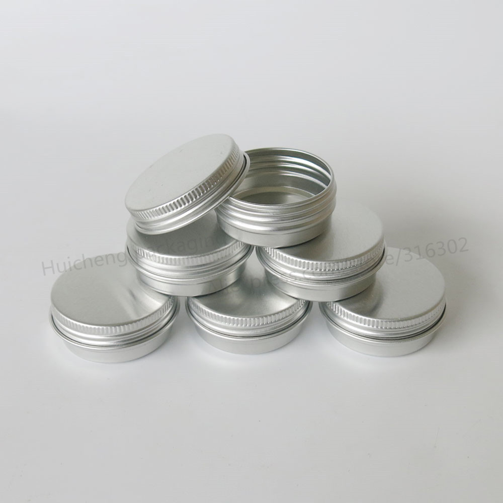 100 x 10G Aluminum Jar Tin Pots 10cc Metal Cosmetic Packaging Container 1/3oz professional cosmetics container