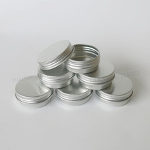 50pcs/lot 10G Aluminum Jar 10cc metal Cosmetic Packaging Container 1/3oz professional cosmetics container