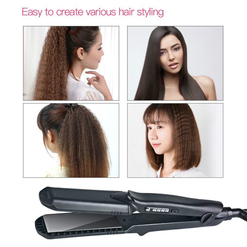 4 size Waves plates Flat Iron Ceramic Corrugated Temperature Control Hair Curling Iron Hair Curler Styler Styling Tools 100-240V 2017 new hot sale professional salon ptc heating white color ceramic negative ions steam automatic hair curler hair style tools
