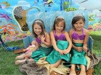 New 2016 Girls Bikini Princess Kids Mermaid Swimsuit 3 pcs Infant Bathing Suit Child Toddler Beach Swimwear