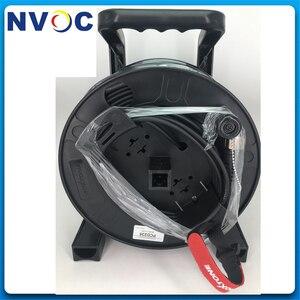 Image 5 - Câble à fibres optiques tactique rétractable militaire extérieur de télécom portatif bobine de fil de câble de poignée vide/tambour denroulement/rouleau/plateau