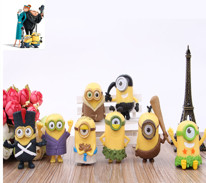 2015 New 8pcs/lot Minions New Model Cosplay Soldie...