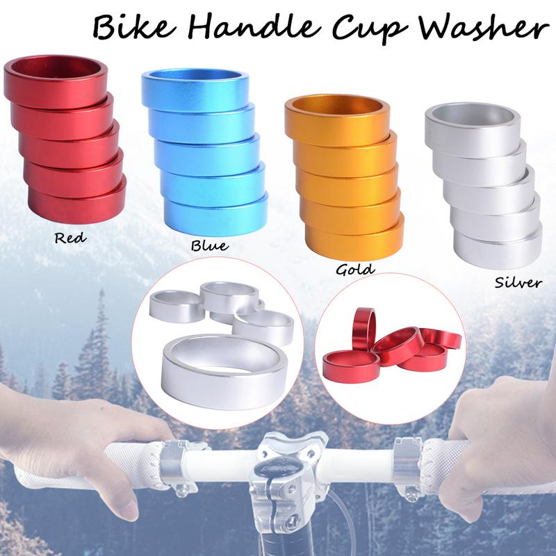 5pcs Mountain Bike Bicycle Front Fork Handle Aluminum Alloy Cup WashersFixie Bike Washer 10mm