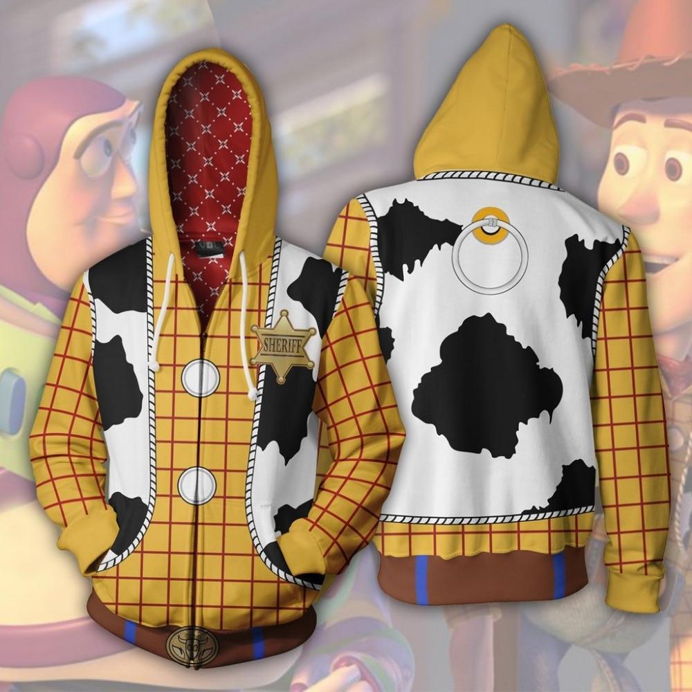 Movie Buzz Lightyear Cosplay Costume Sweatshirt Hoodie Jacket Coats Men Women