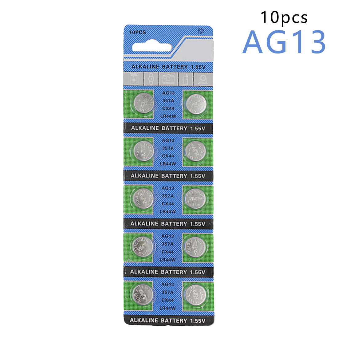 цена на Centechia 10 Pcs AG13 LR44 357A S76E G13 Button Coin Cell Battery Batteries 1.55V Alkaline