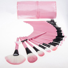 Promotion!32Pcs Set Professional Makeup Brush Foundation Eye Shadows Lipsticks Powder Make Up Brushes Tools Bag pincel maquiagem