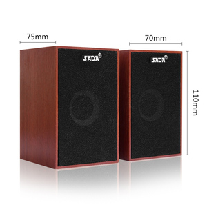 Image 5 - SADA Computer Speakers USB Wired Combination Soundbox Super Bass Mini Wooden PC Speaker for Laptop Smart Phone MP3 3.5mm AUX IN