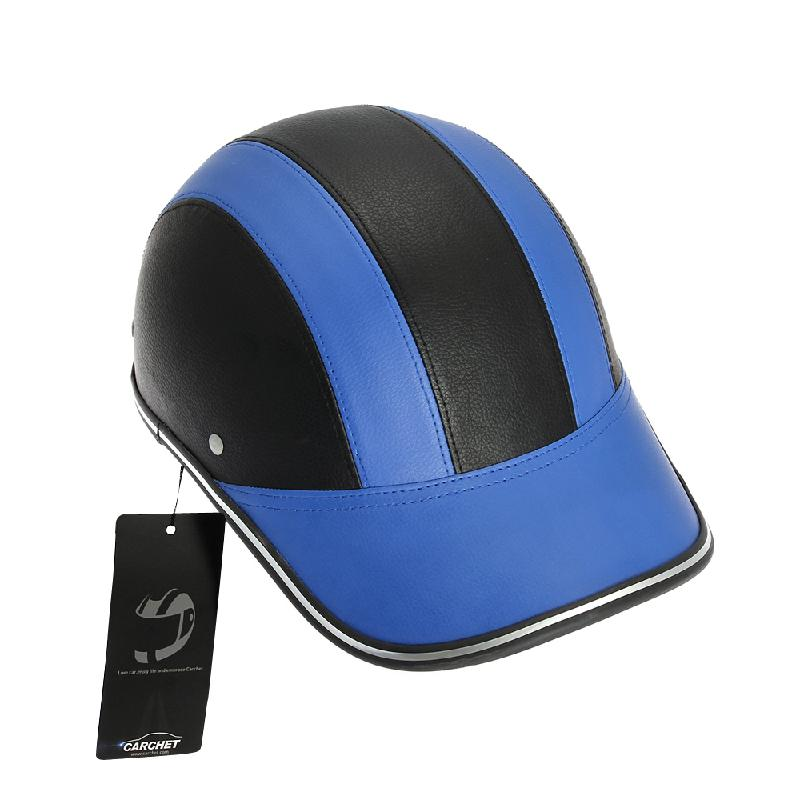 motorcycle half face helmet protective helmets pith abs leather baseball cap motor unisex colors style under hat helme