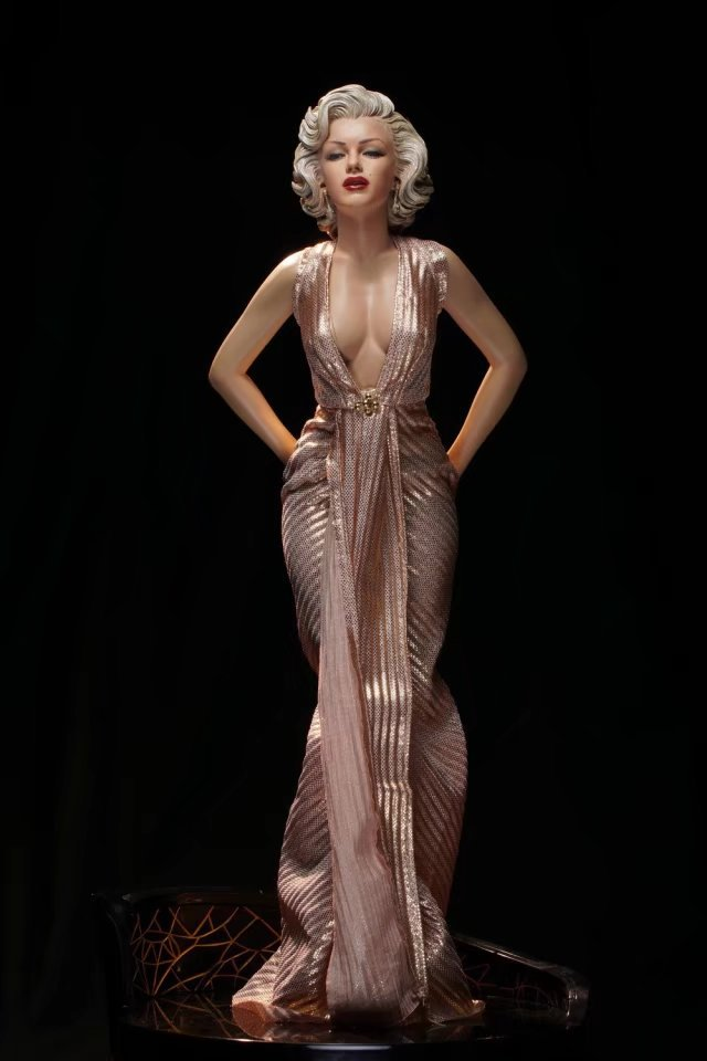 Marilyn Monroe Statue Action Figure 1/4 scale painted figure Real Clothes Ver. Marilyn Monroe PVC ACGN figure Garage Kit Toy