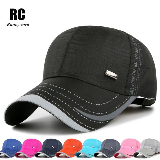 5be9f965c5aa9 Verano marca gorras de béisbol para hombres mujeres casquillo de los  deportes ocasionales gorro sombrero de