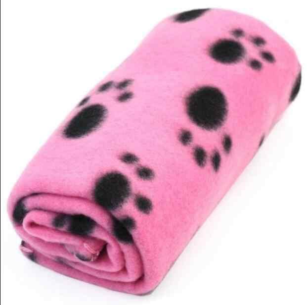 Большой размер 100*70 см одеяло для домашних собак и кошек мягкое полотенце коврик с принтом лапы для больших собак кровать для щенков одеяло банное полотенце для домашних животных Автомобильная подушка