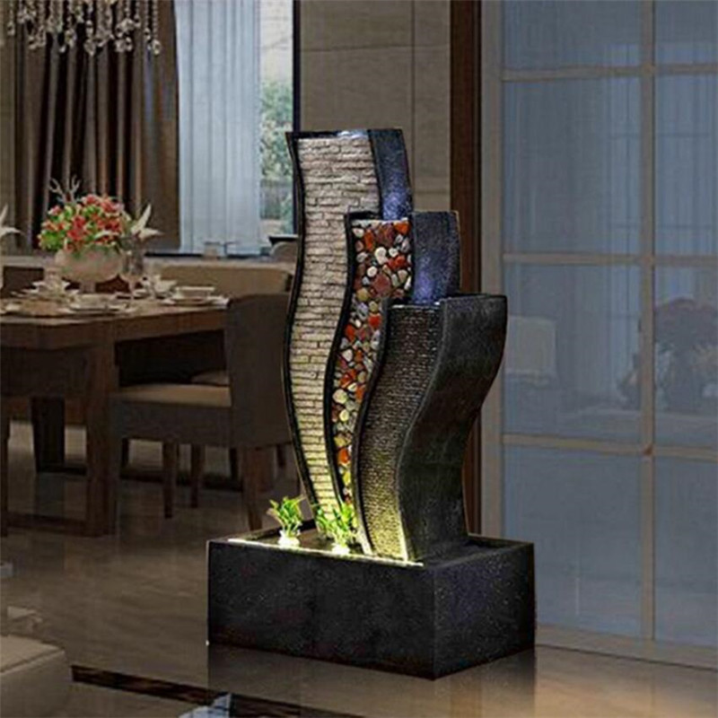 Charming Water Curtain Wall Fountain Water Landscape Furnishings Creative Wind  Turbine Home Room Interior Decoration Resin Crafts In Figurines U0026  Miniatures From Home ...