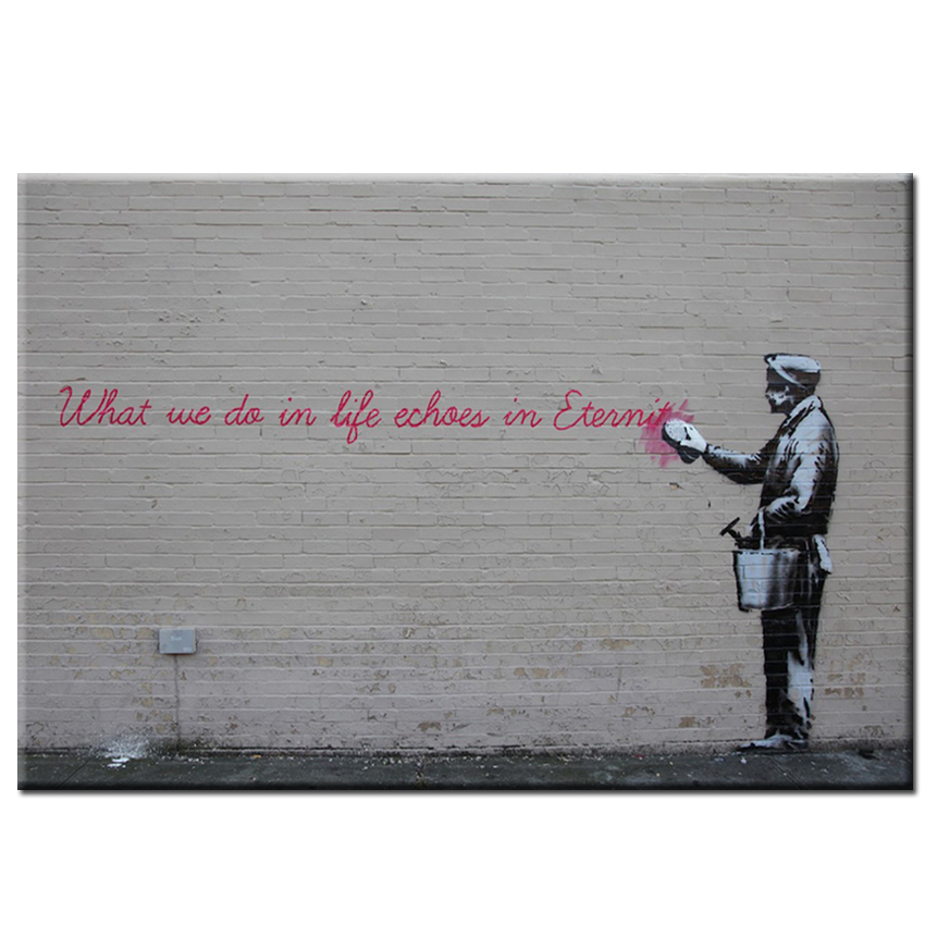a review of the cave paintings of the english based graffiti artist banksy Banksy is a pseudonymous england-based graffiti artist, political activist, film director, and painter i would love to see some of his art in person.