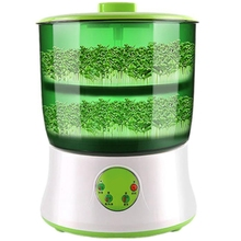 220V Bean Sprout Machine Intelligence Home Use Large Capacity Automatic Bean Sprouts Machine-Eu Plug three layer bean sprouts machine domestic automatic large capacity bean sprouts bean sprouts pot sprout pot bud pot