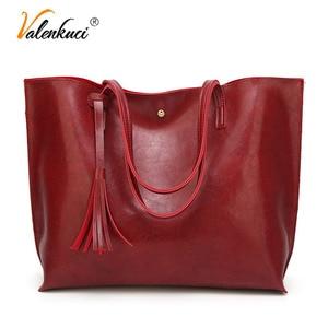 Image 1 - Designer Handbags Soft Leather Big Women Bags HandBags Famous Brands Top handle Bags Female PU Tote Shoulder Bags for Women 2020
