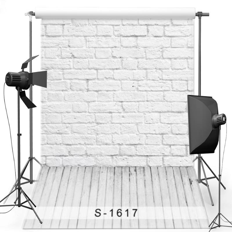 MEHOFOTO White Brick Wall Vinyl Photography Background For Newborn New Fabric Polyester Backdrop For Children Photo Studio 1617