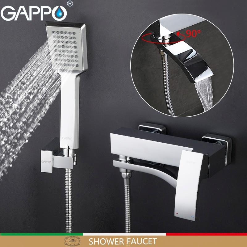 GAPPO Bathtub Faucets Brass Bath Mixer Shower Faucet Bathroom Bathtub Faucet Set Bathroom Waterfall Taps Mixer Torneira