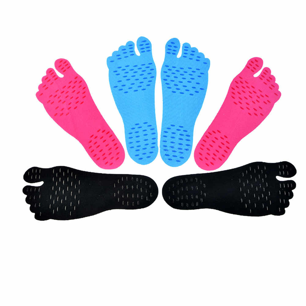 High Quality Adhesive Foot Pads Feet Sticker Stick On Soles Flexible Anti-slip Beach Feet Protection 1 Pair Foot Pads   H7JP