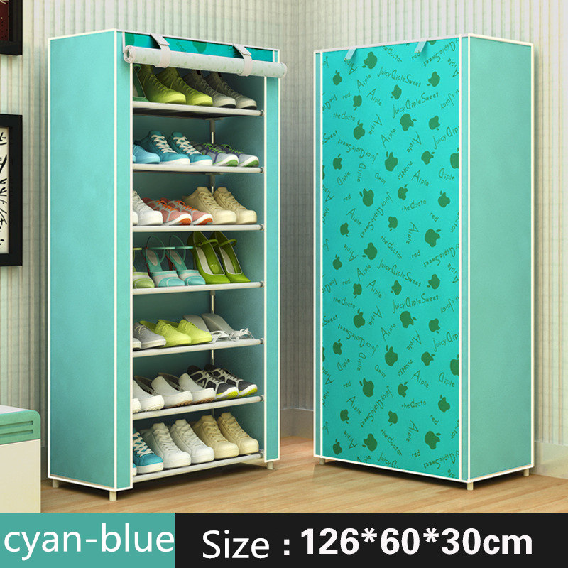 Modern minimalist shoe 8 layer non-woven dust creative combination cabinet storage rack organizer shoe storage home Furnitur 5