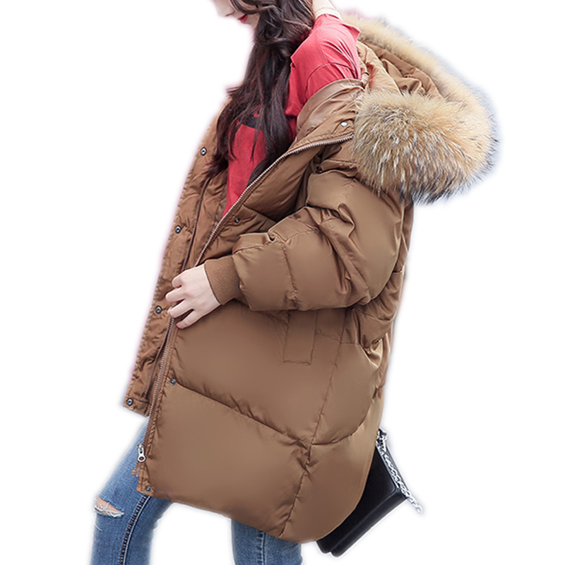 Big Size Women Clothing Solid Jacket Winter Female Korean Stylish Long Khaki Parka Coats Warm Parkas Women's Winter Coat 2017