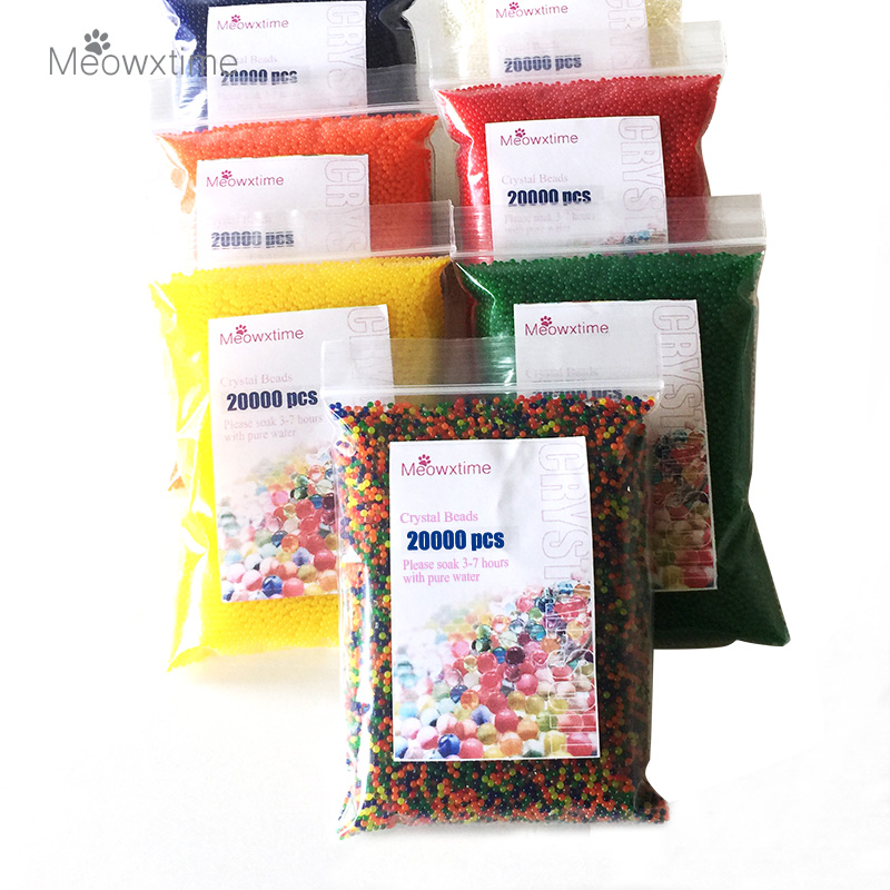 20000pcs bag crystal soil hydrogel gel polymer water beads for Decoration maison aliexpress