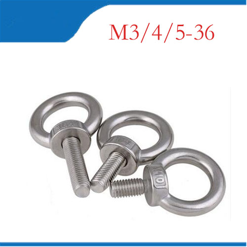 Eye bolt 304 Metric Thread M3 M4 M5 M6 M8 M10 M12 M16 M18 M20 M24 Lifting Bolt Eye Hook Bolts Shouldered Lifting eye ring nuts 10pcs din582 m3 m4 m5 m6 m8 m10 m24 304 stainless steel marine lifting eye nut ring nut thread hw108