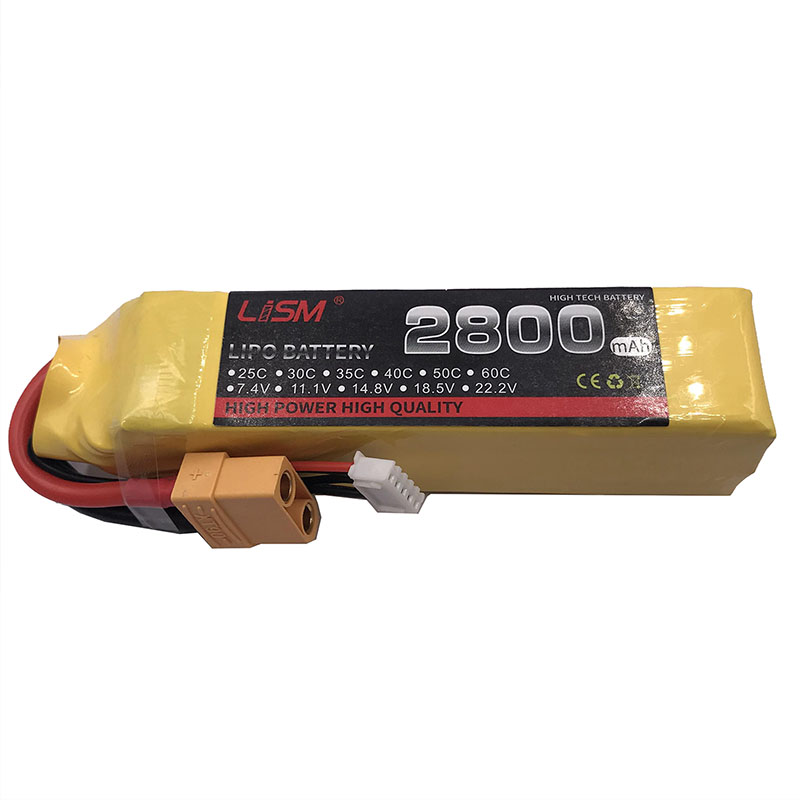 Hot Sale 14.8 V 2800 mAh <font><b>4S</b></font> 30C max60c T Plug Rechargeable <font><b>Lipo</b></font> Battery For RC Multirotors With Good Quality #20y49 image