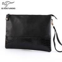 Badenroo Male Envelope Bag Simple Alligator Crocodile Leather Business Male Clutch Shoulder Bag Fashion Day Clutches