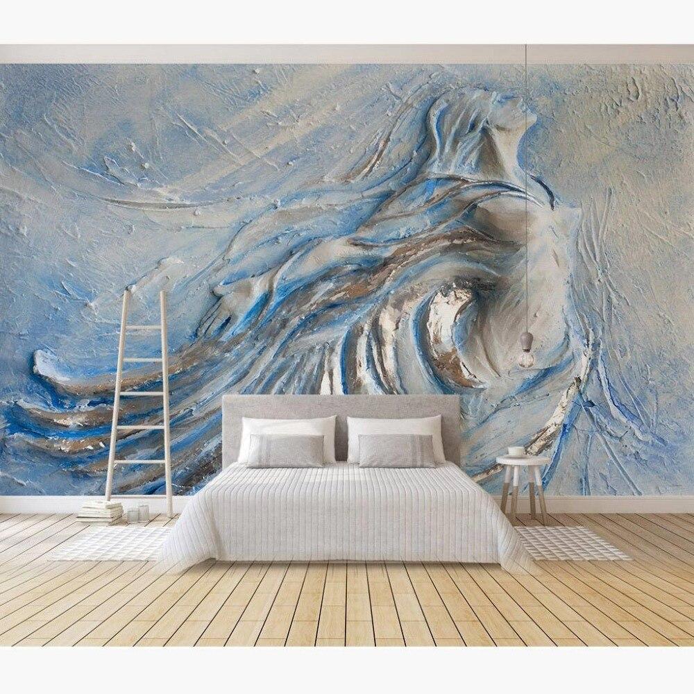 Home decor embossed beauty photo murals wallpaper living Decor papier peint mural