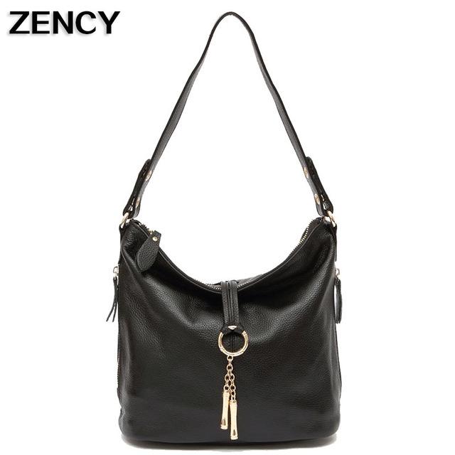 ZENCY Genuine Cow Leather Small Women Designer Shoulder Bags First Layer Cowhide Messenger Girls Teenagers Crossbody Handbag