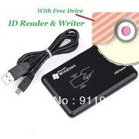 10 шт. USB em4100 125 кГц RFID считыватель и писатель ID карта копир дубликат копир и 10 шт. Бесплатная перезаписываемая бирка и бесплатное программное ...