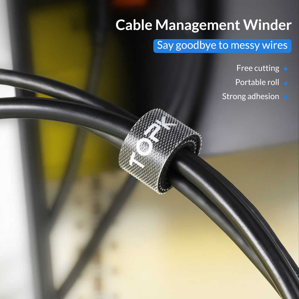 TOPK кабель протектор нейлон Волшебная кабельная наклейка Органайзер провода намотки Наушники Шнур мышки управление для iPhone samsung Xiaomi